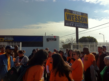 Outside Wesson Campaign Office