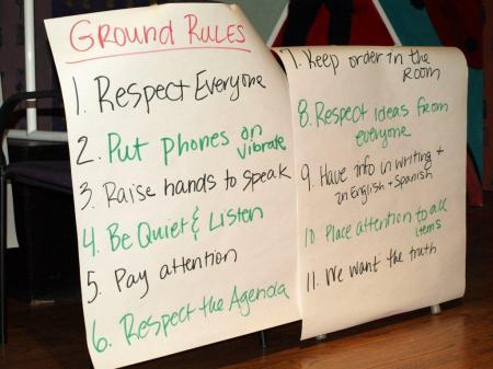 Ground Rules for Meeting
