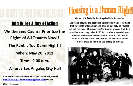 May 20th Human Right to Housing Day