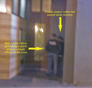 This is the picture (taken by Bilal Ali) that enraged the LAPD officer and ultimately led to the arrest of residents.