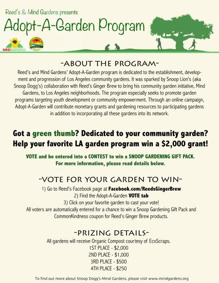 Adopt A Garden Flyer