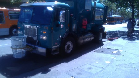 A New Delivery of Trash Cans to Skid Row